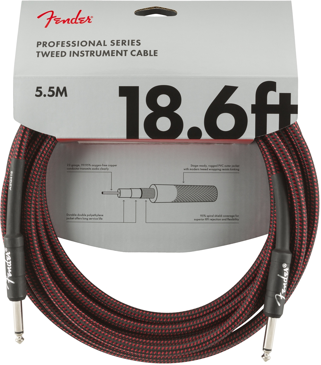 Professional Coil Cable 9M Red Tweed