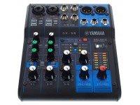 """Yamaha MG-06X Effects: SPX com 6 programas  """"D-PRE"""" pré-amplificadores de microfone com o circuito invertido Darlington  PAD switch nas entradas mono  +48V phantom power  XLR saída..."""